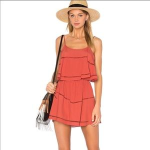 Lovers + Friends rust red dress size M